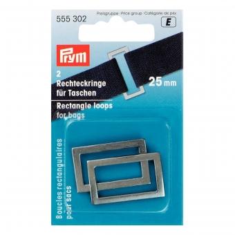 PRYM Rechteckringe 25mm altsilber