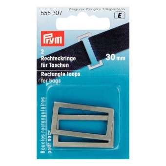 PRYM Rechteckringe 30mm altsilber