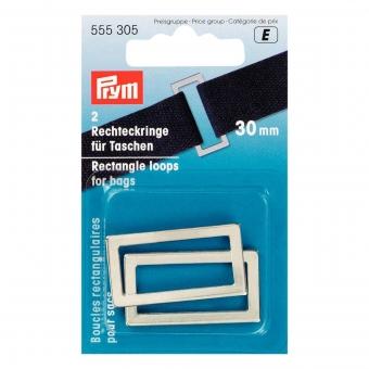 PRYM Rechteckringe 30mm silberfarbig