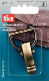 PRYM Karabinerhaken 30mm altmessing gebürstet