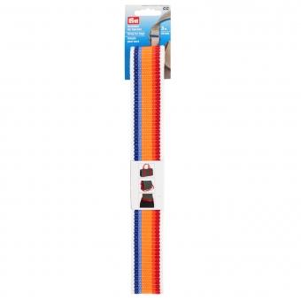 PRYM Gurtband 40mm weiß/mehrfarbig gestreift