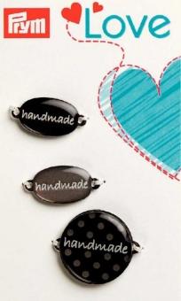 PRYM handmade Label-Set grau