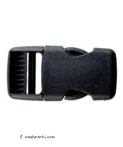 Steckschnalle zum klicken schwarz 25mm
