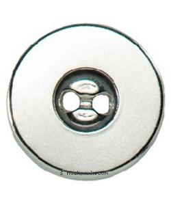 Magnet-Verschluß zum Annähen 19mm silber