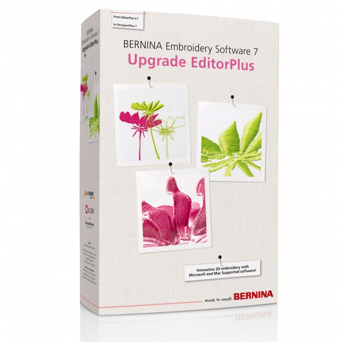Bernina Upgrade Editor Plus V7 auf Designer Plus V7