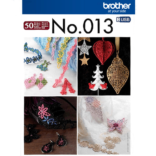Brother Stickmuster USB Nr. 13 3D-Schmuck