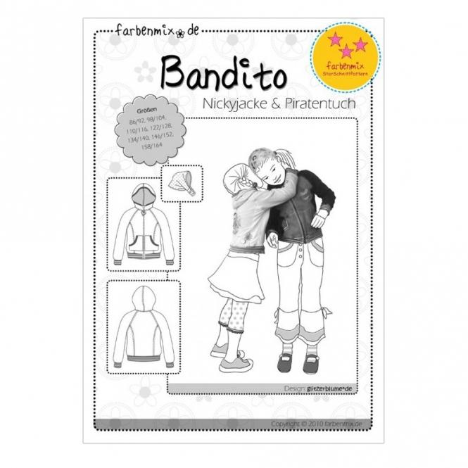 Farbenmix Papierschnittmuster Jacke und Piratentuch Bandito