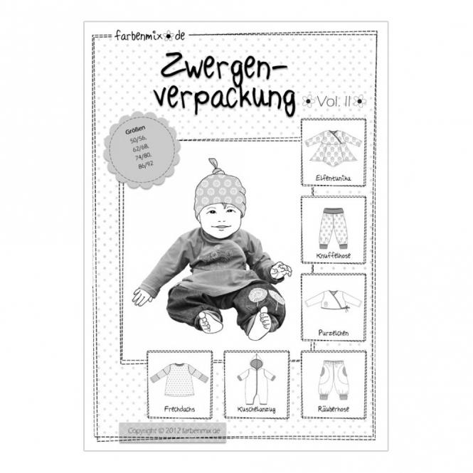 Farbenmix Papierschnittmuster Zwergenverpackung Vol. II