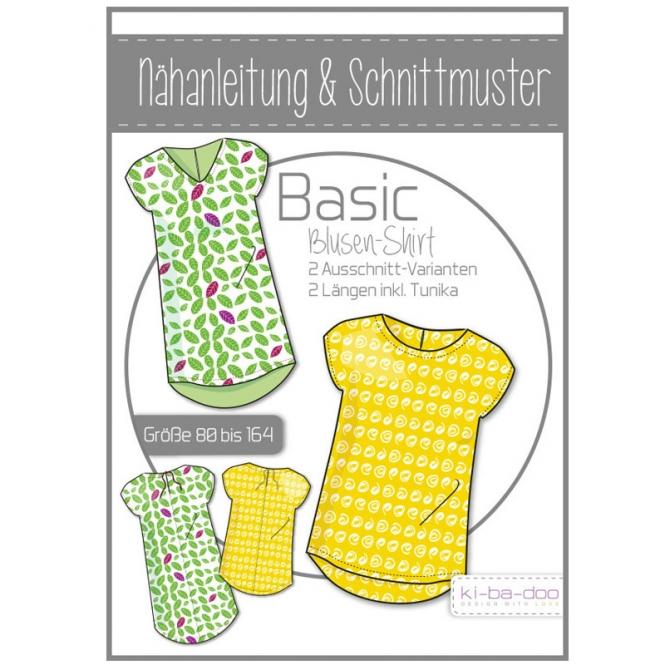 Ki-Ba-Doo Papierschnittmuster Basic Blusen-Shirt Kinder