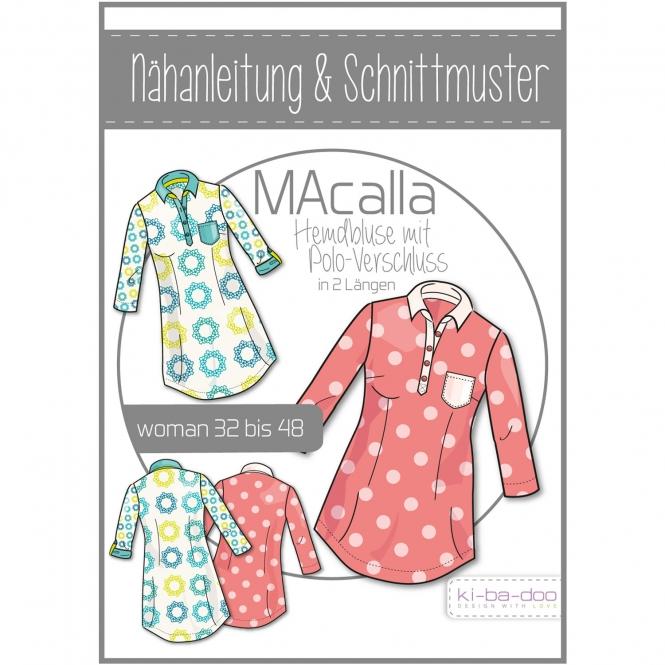Ki-Ba-Doo Papierschnittmuster Hemdbluse MAcalla