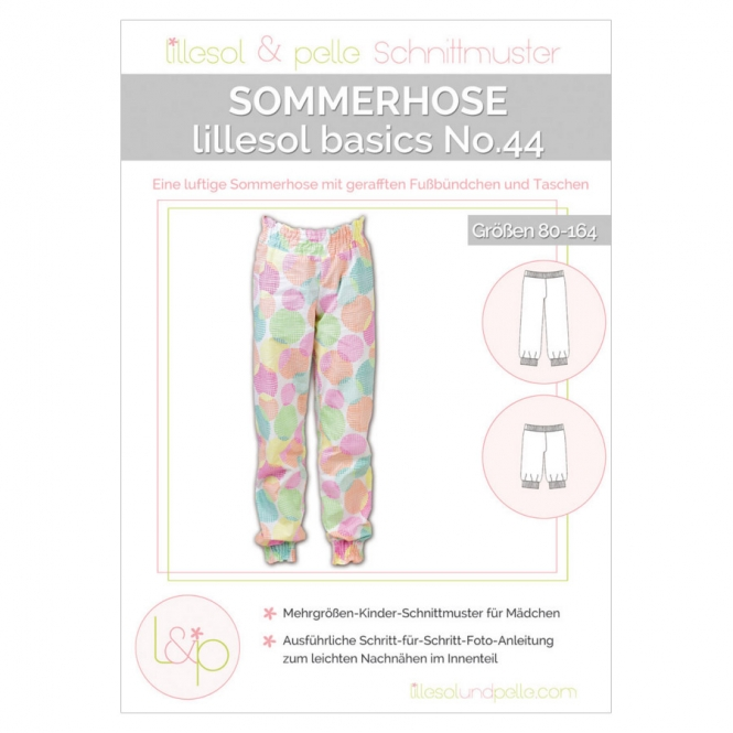 Lillesol Basics Papierschnittmuster No.44 Sommerhose