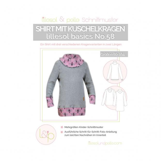 Lillesol Basics Papierschnittmuster No.58 Shirt mit Kuschelkragen