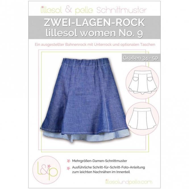 Lillesol Women Papierschnittmuster No.9 Zwei-Lagen-Rock