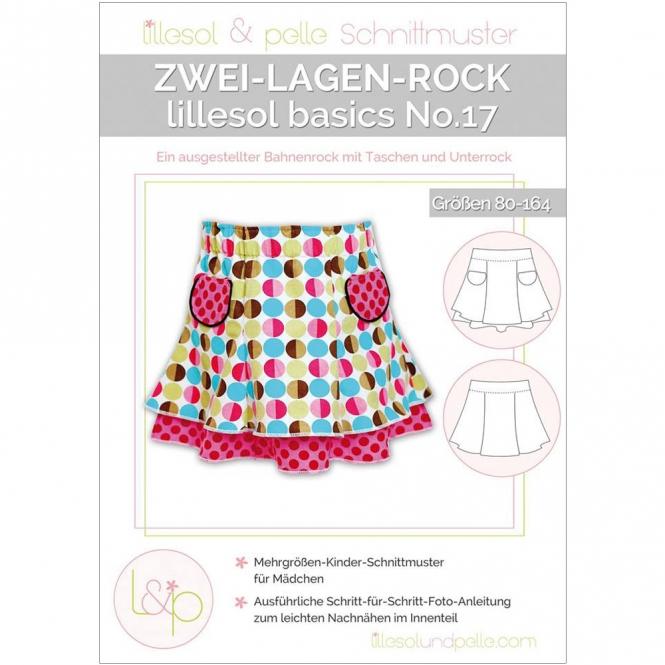 Lillesol Basics Papierschnittmuster No.17 Zwei-Lagen-Rock