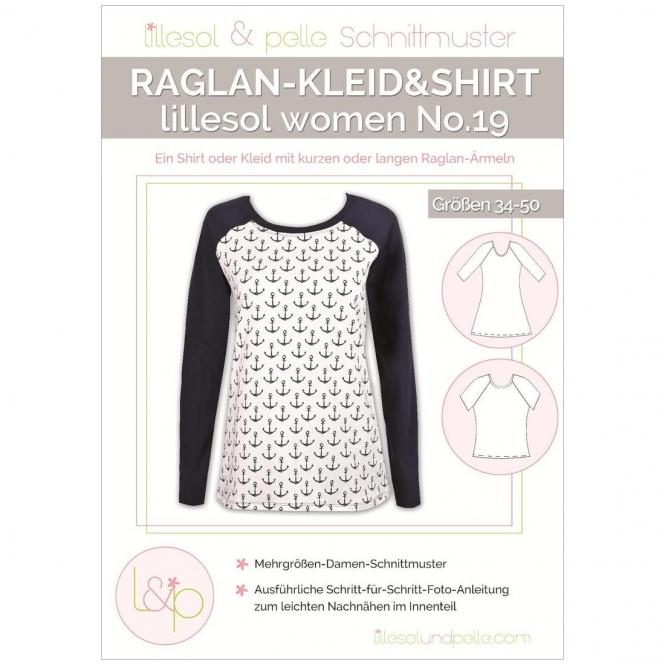 Lillesol Women Papierschnittmuster No.19 Raglan-Kleid und Shirt