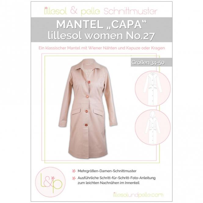 "Lillesol Women Papierschnittmuster No.27 Mantel ""Capa"""