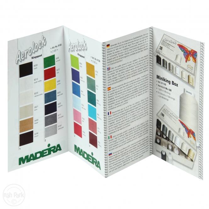 Farbkarte Druck Madeira Aerolock/Aeroflock