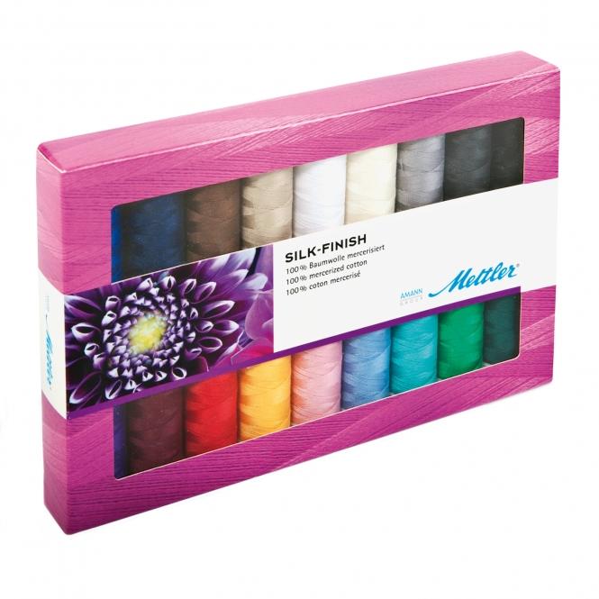 Mettler Farbkit Silk Finish Cotton 18 Farben