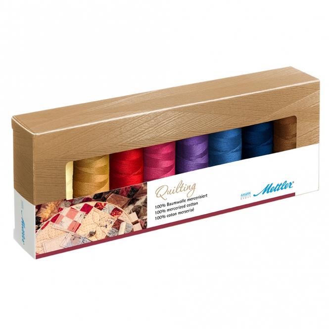 Mettler Farbkit Silk Finish Cotton Quilting 8 Farben