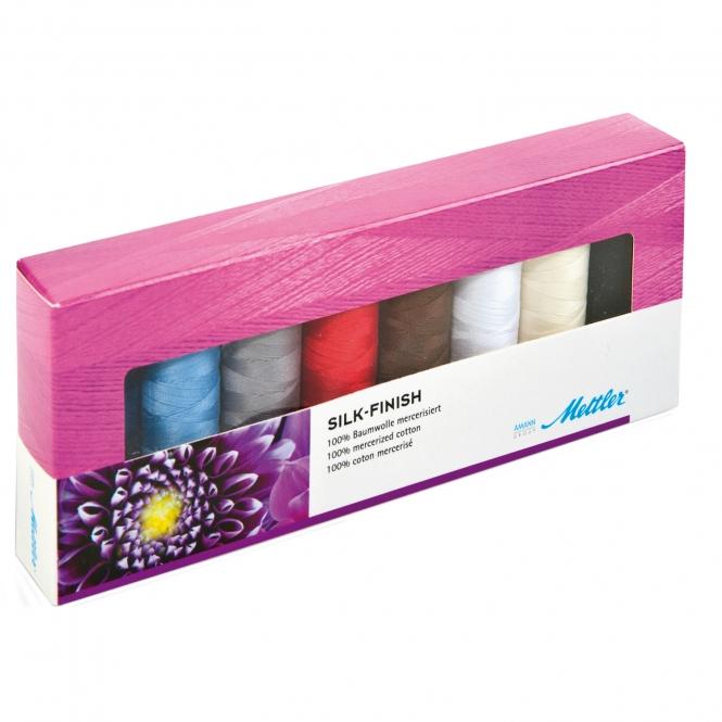 Mettler Farbkit Silk Finish Cotton 8 Farben