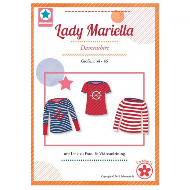 Mialuna Papierschnittmuster Shirt Lady Mariella