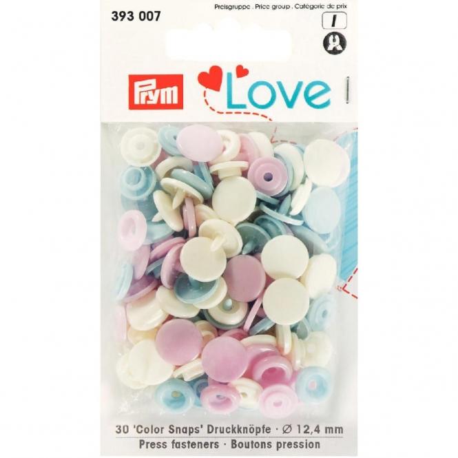 Prym Love Color Snaps rosa/hellblau/perle