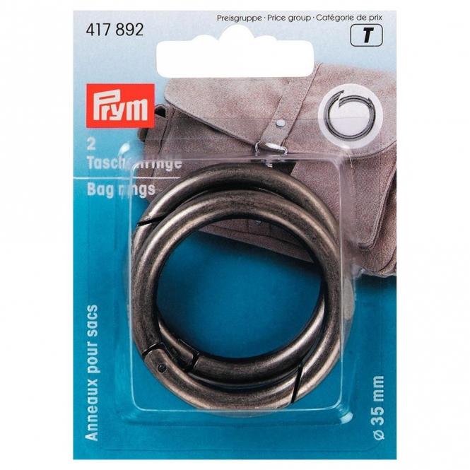 Prym Taschenringe 35mm altsilber