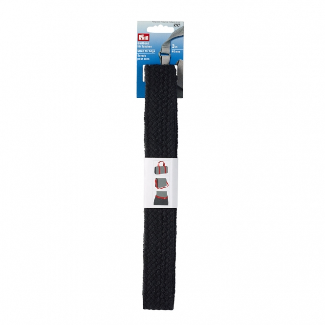 Prym Gurtband geflochten 40mm schwarz