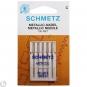 SCHMETZ Maschinen-Sticknadeln Metallic Stärke 80