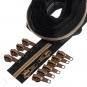 Kupfer metallisierter Reißverschluss 3 m B5 schwarz