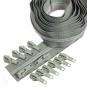 Silber metallisierter Reißverschluss 3 m B24 hellgrau