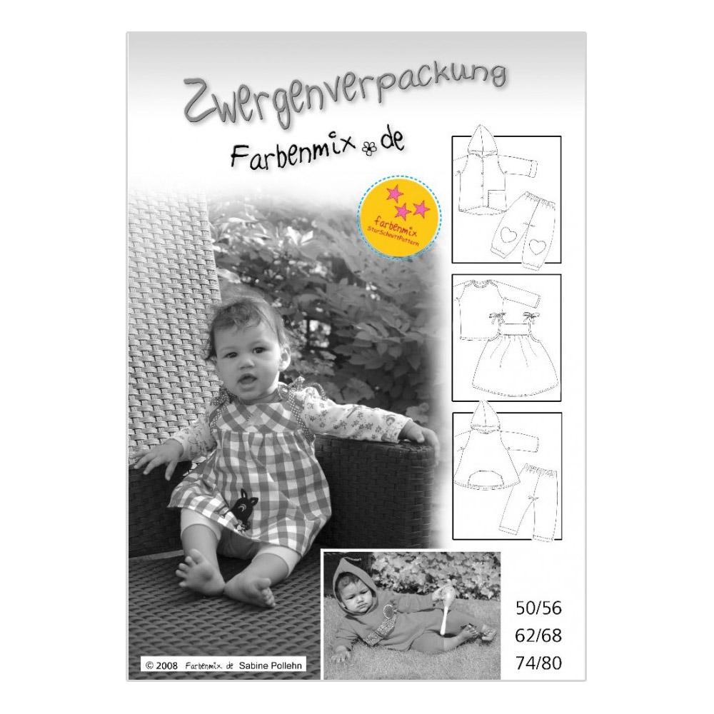 FARBENMIX Papierschnittmuster Zwergenverpackung I