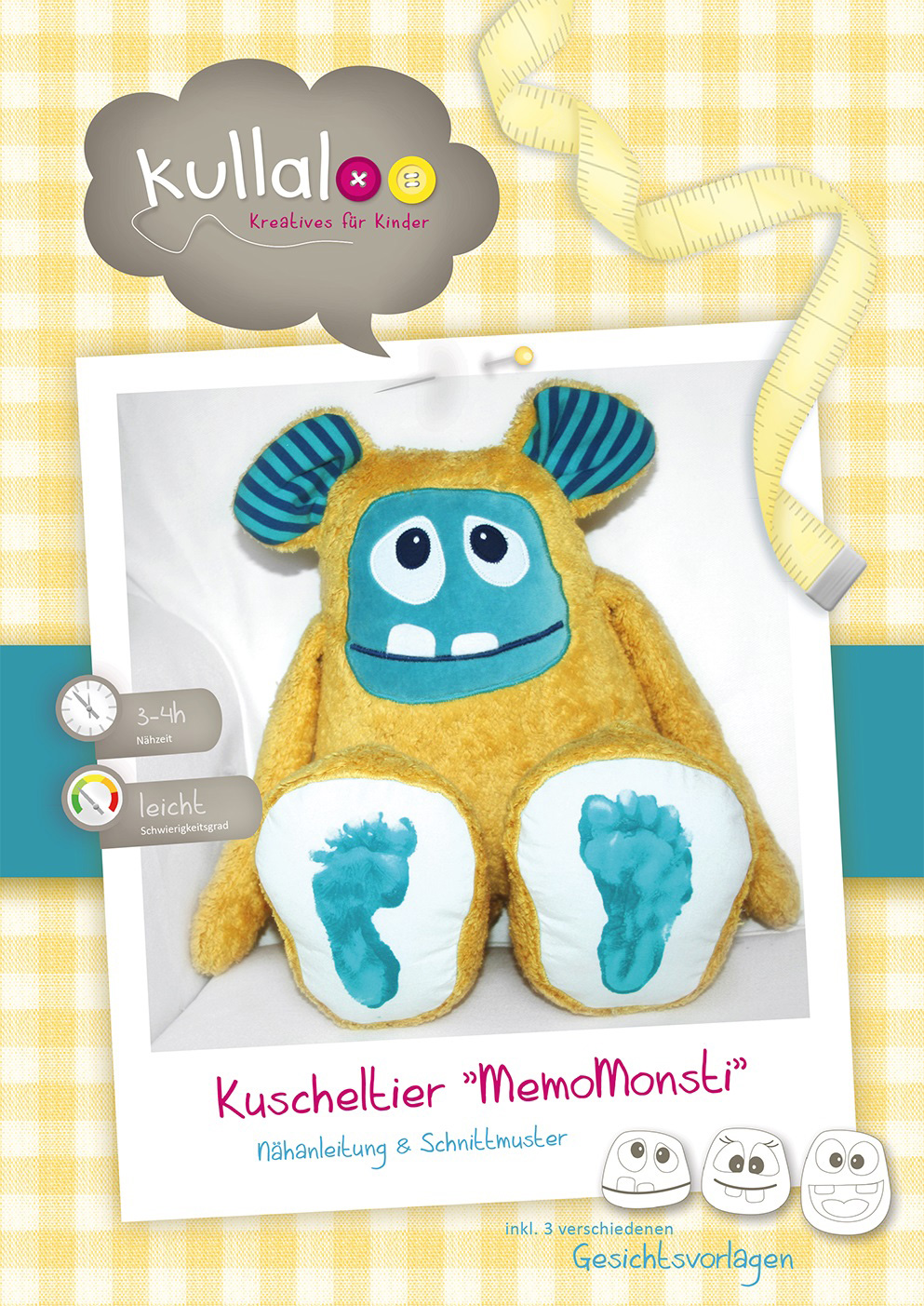 """KULLALOO Kuscheltier """"Memomonsti"""""""