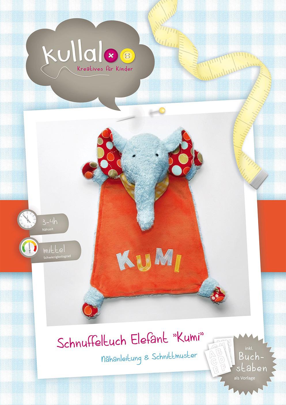 "KULLALOO Schnuffeltuch Elefant ""Kumi"""