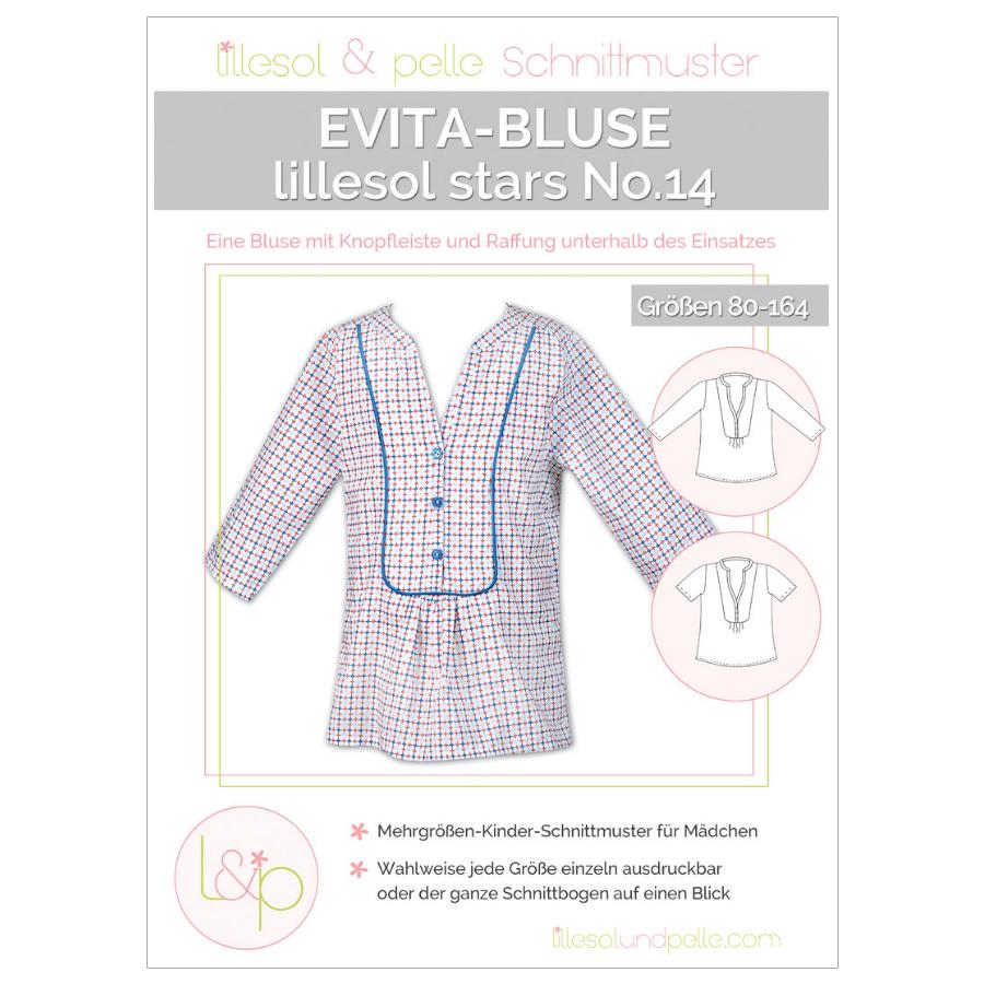 LILLESOL Stars Papierschnittmuster No.14 Evita-Bluse