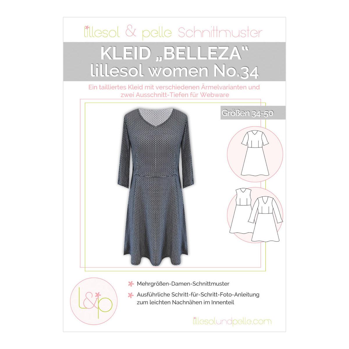 6453c429e510f3 LILLESOL Women Papierschnittmuster No.34 Kleid Belleza im nähPark kaufen