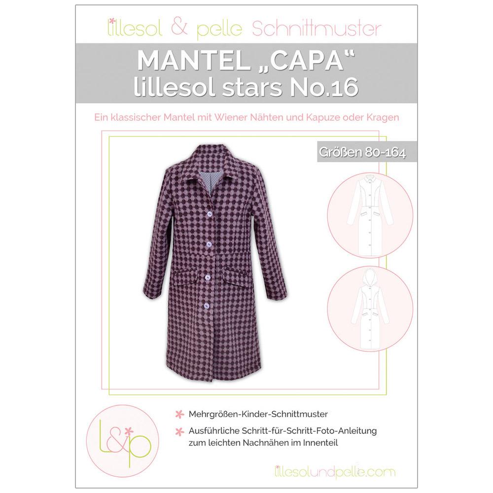 "LILLESOL Stars Papierschnittmuster No.16 Mantel ""Capa"""