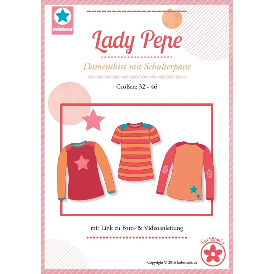 MIALUNA Papierschnittmuster Shirt Lady Pepe