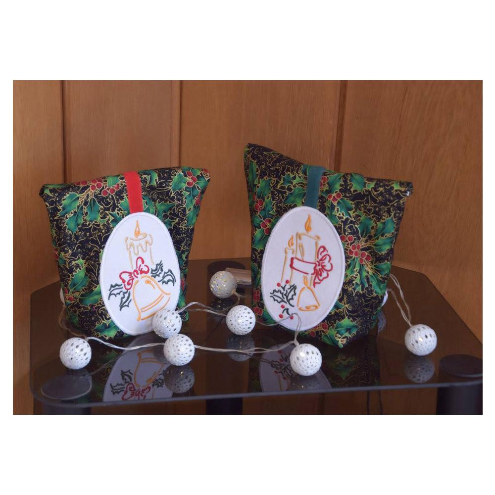 NÄHPARK Stickmuster Christmas Bells - Candles