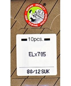 ORGAN Overlocknadeln EL x 705 SUK 10er Pack St. 80
