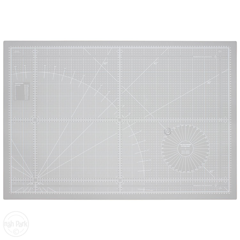Patchwork-Schneidematte grau 93 x 63 cm