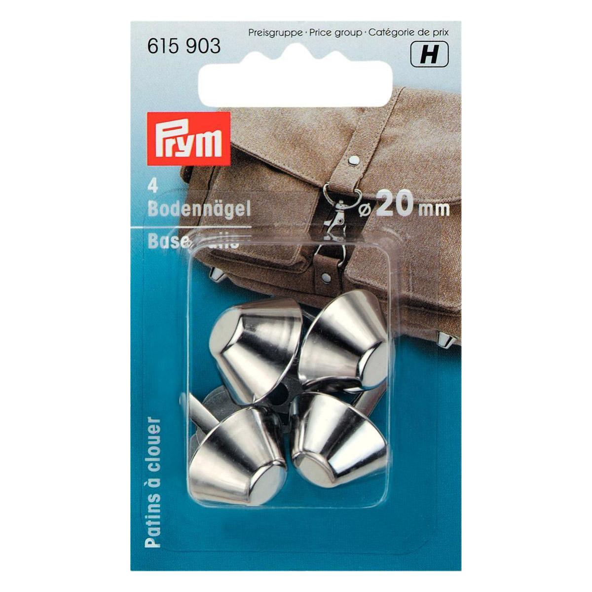 PRYM Bodennägel für Taschen 20mm silberfarbig