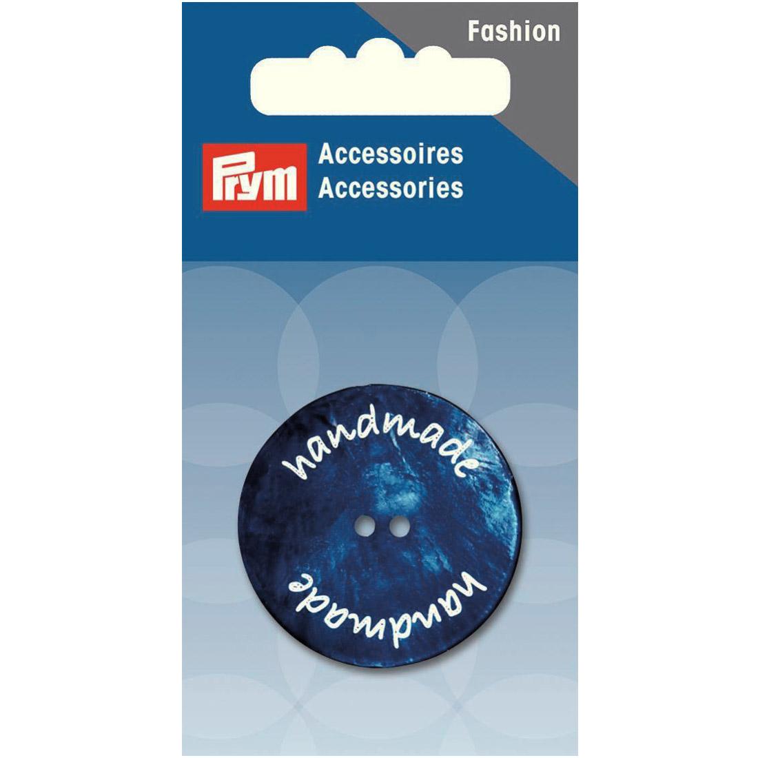 PRYM handmade Knopf 2-Loch dunkelblau