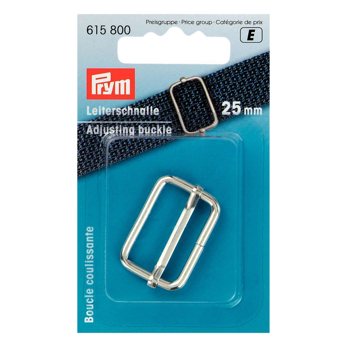 PRYM Leiterschnalle 25mm silber