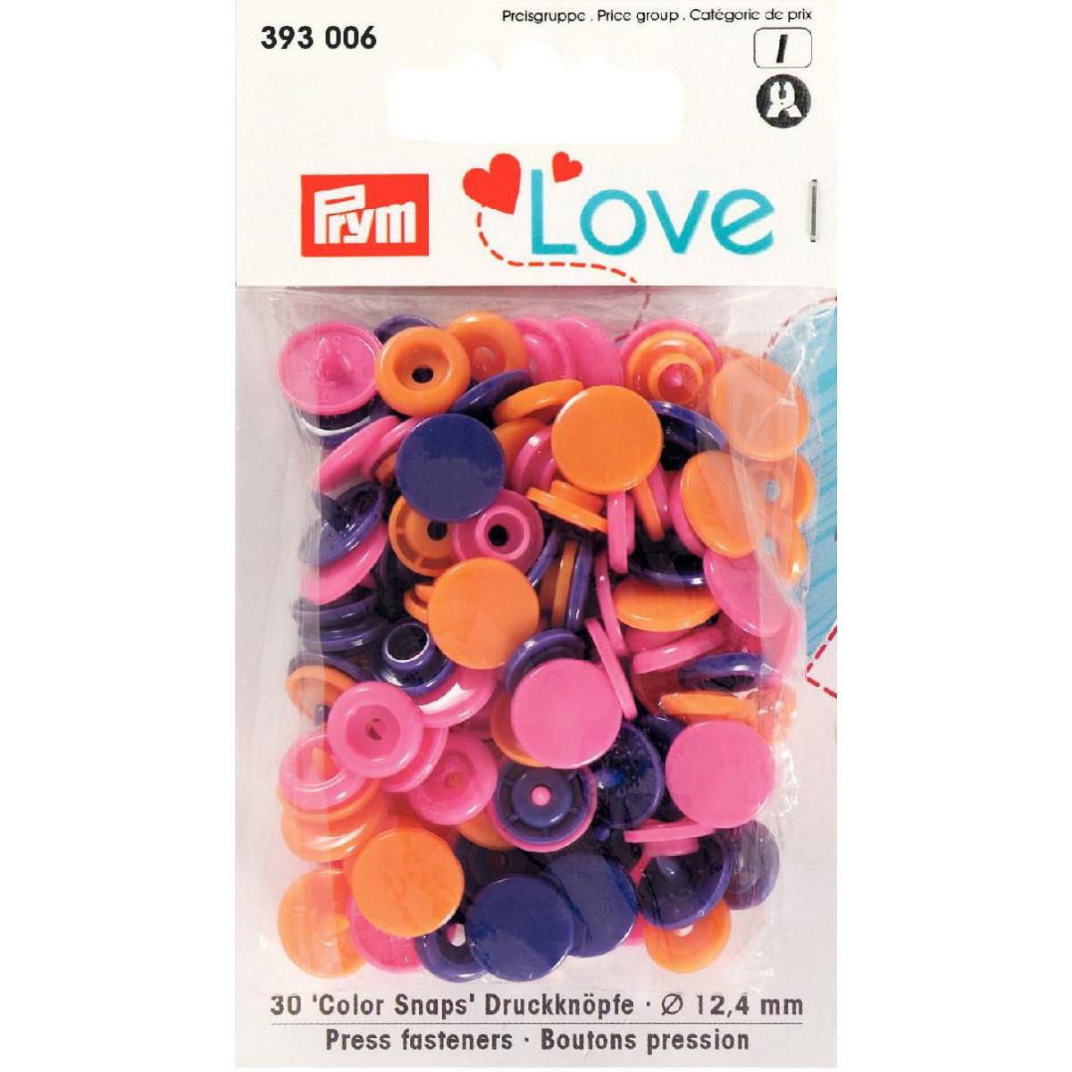 PRYM Love Color Snaps orange/pink/violett