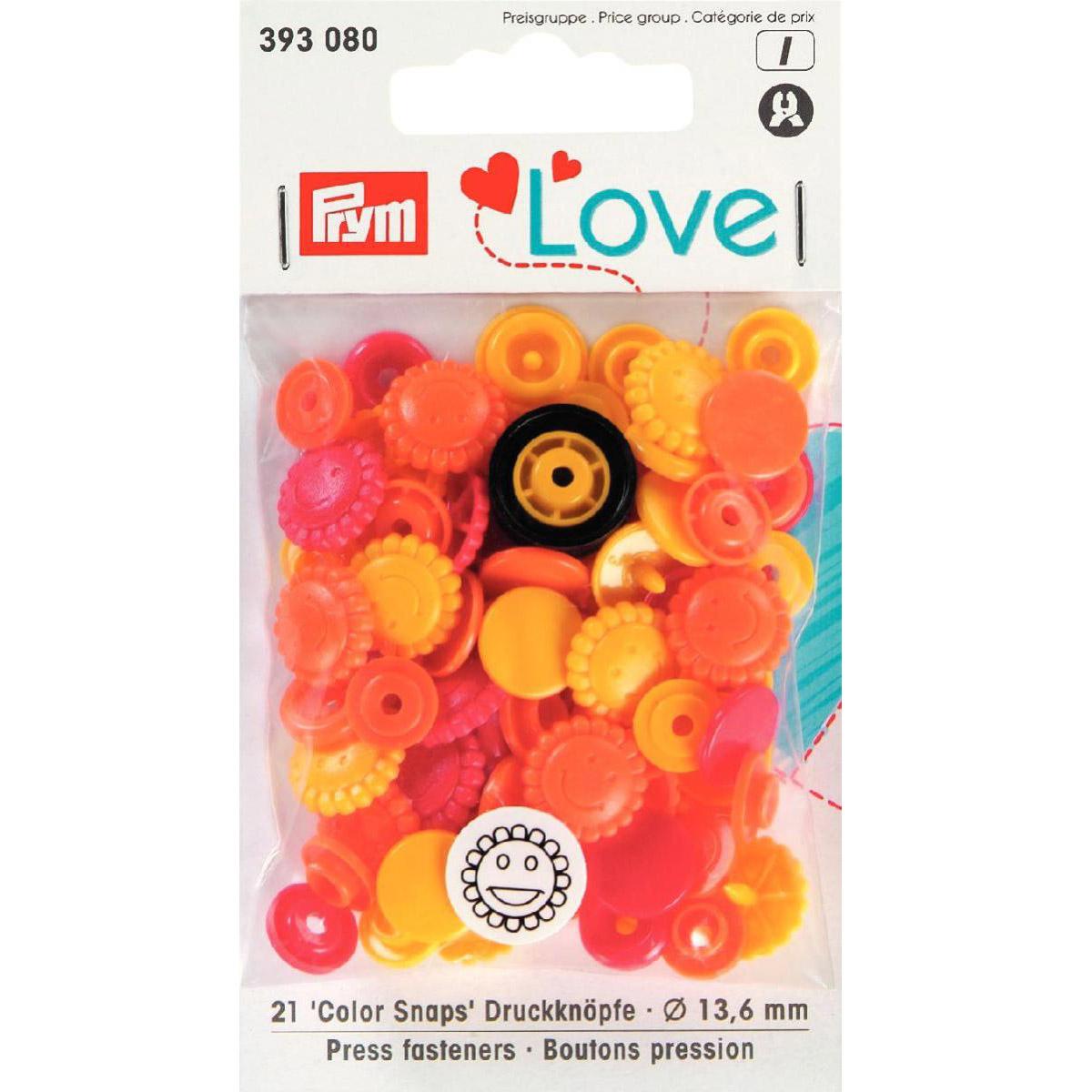 PRYM Love Color Snaps Blume gelb/rot/orange
