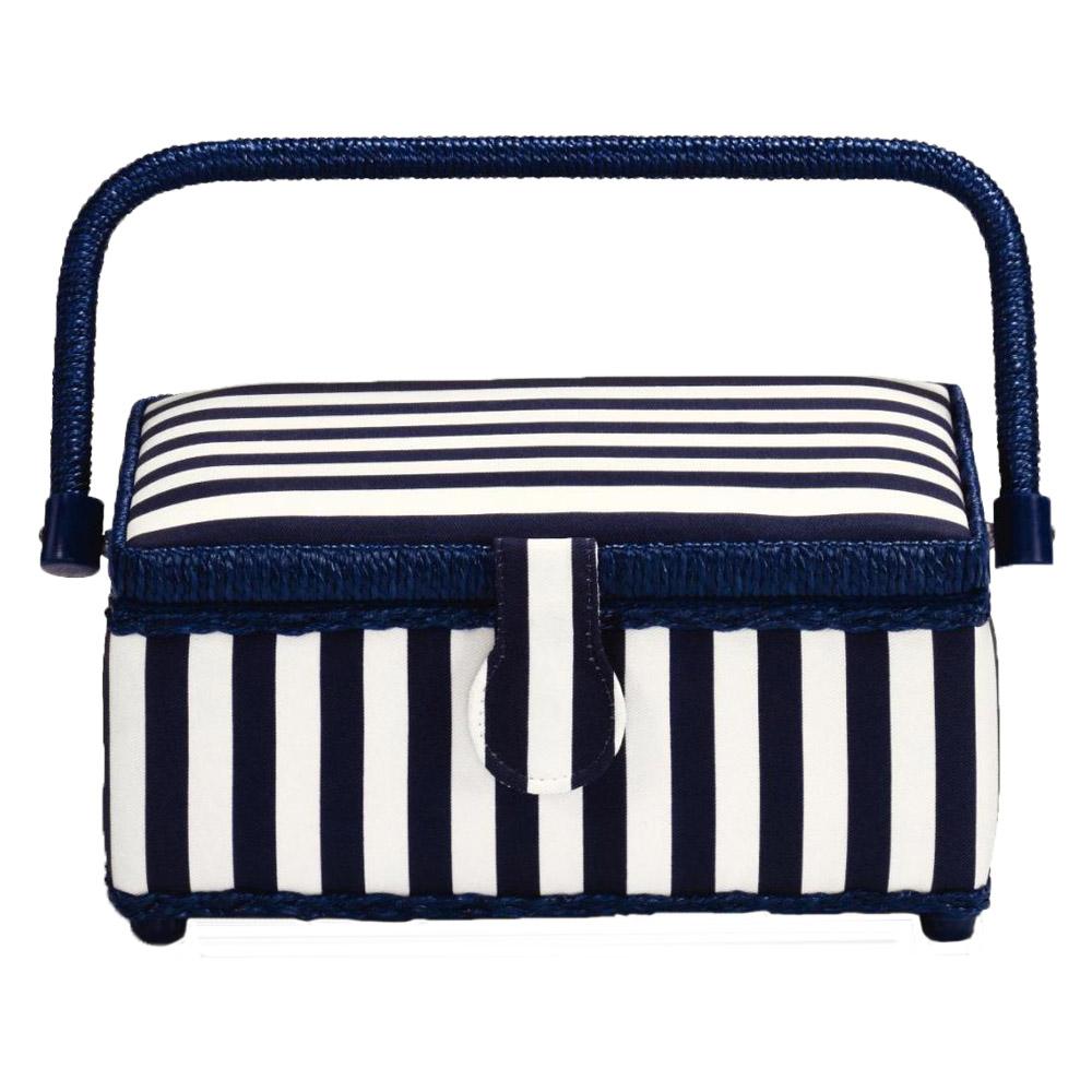 PRYM Nähkorb Blue Stripes S