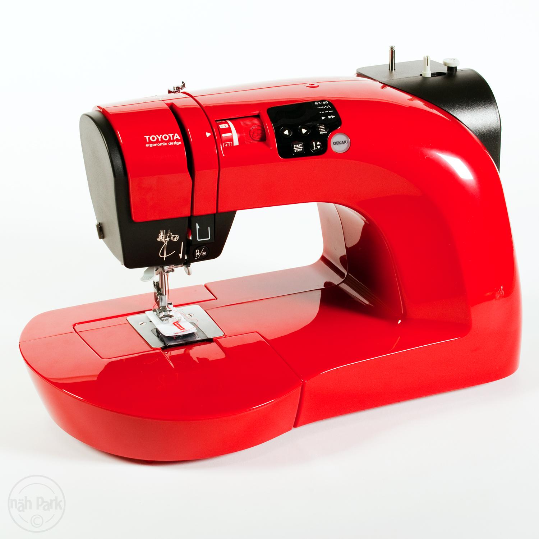 n hmaschine toyota oekaki 50 rot gebraucht im n hpark kaufen. Black Bedroom Furniture Sets. Home Design Ideas