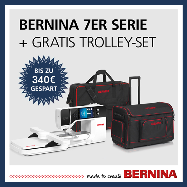 4 Bernina Trolleys xs + sm