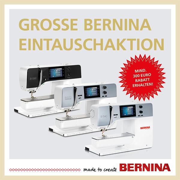 Große Bernina Eintauschaktion xs+sm